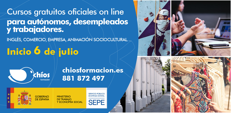 Cursos sepe gratis online inicio en Julio 2020