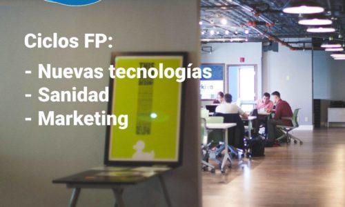 FP informática, FP sanidad, FP marketing